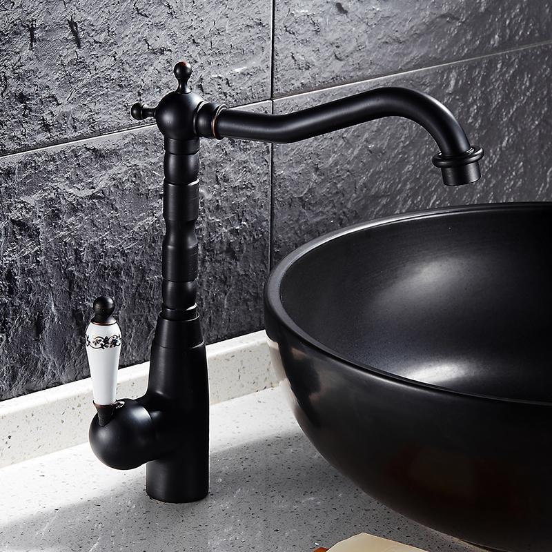 Agate Single Handle Oil Rubbed Bronze Bathroom Sink Faucet