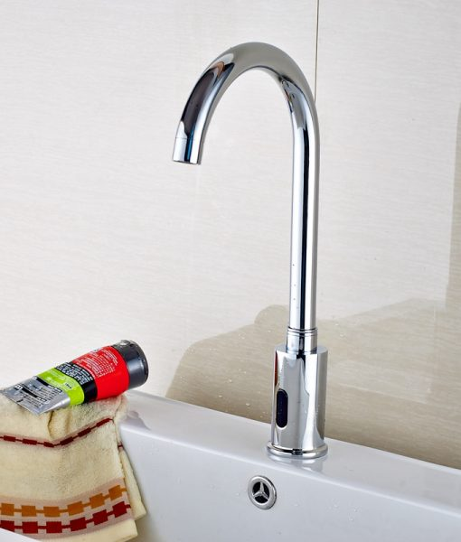 Barth Hands Free Touchless Chrome Bathroom Sink Faucet with Motion Sensor 1