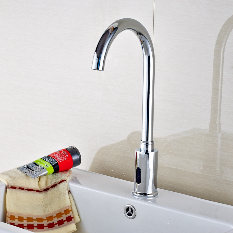 Barth Hands Free Touchless Chrome Bathroom Sink Faucet with Motion ...