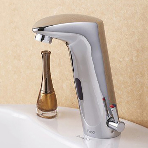 Benham Hands Free Touchless Chrome Bathroom Sink Faucet with Motion ...