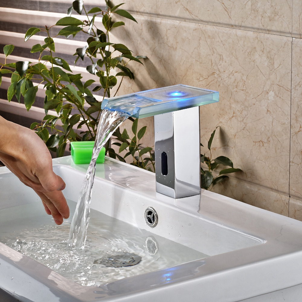 Motion Sensor Bathroom Faucet. Bonita Touchless Led Bathroom Sink Faucet With Motion Sensor 3