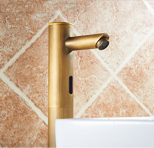 Bonnie Hands Free Touchless Antique Brass Bathroom Sink
