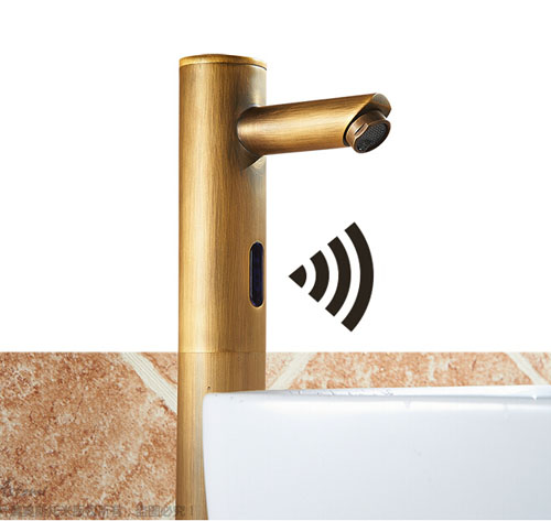 Bonnie Hands Free Touchless Antique Brass Bathroom Sink Faucet With Motion Sensor Funitic