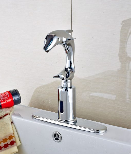 Cavitt Hands Free Touchless Dolphin Shaped Bathroom Sink