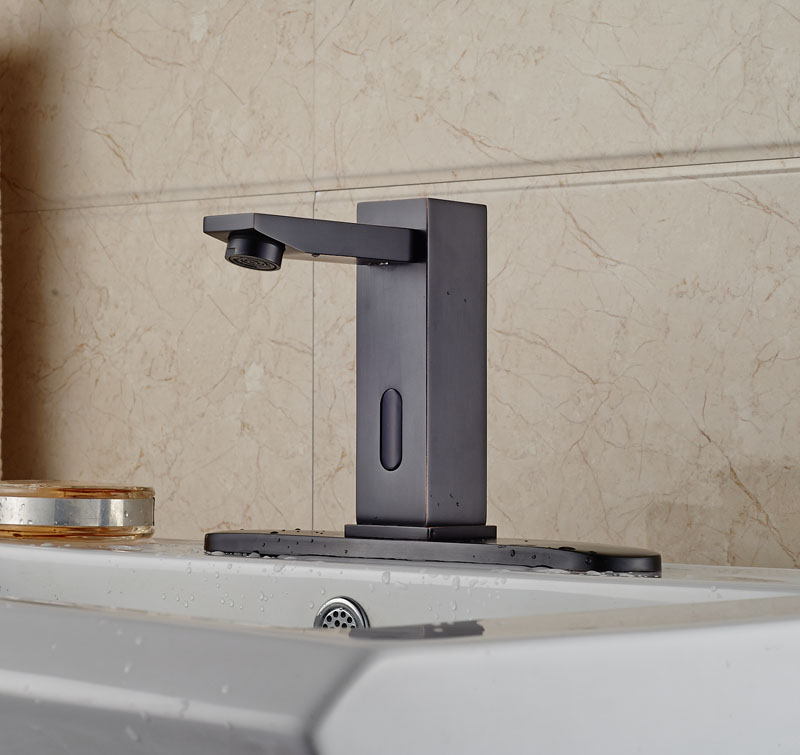 Celilo Touchless Oil Rubbed Bronze Bathroom Sink Faucet with Motion ...