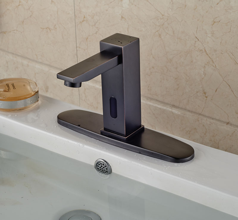 Celilo Touchless Oil Rubbed Bronze Bathroom Sink Faucet With Motion Sensor Funitic