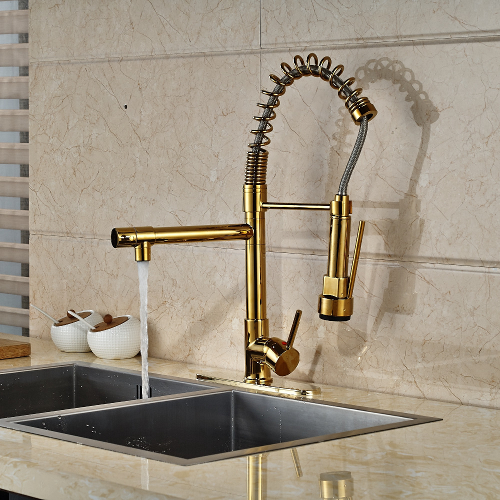 Gold Kitchen Faucet Plate Cover