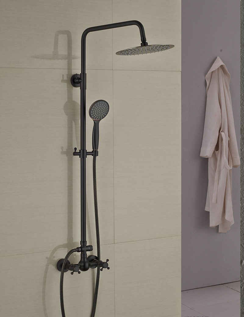 Douglas Oil Rubbed Bronze Wall Mounted Rainfall Showerset