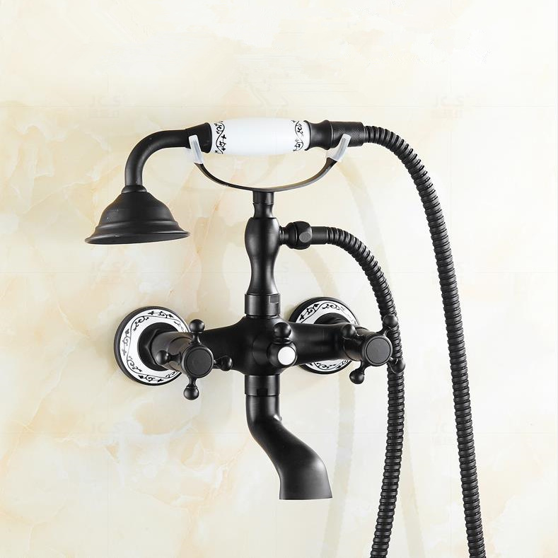 Macon Oil Rubbed Bronze Finish Telephone Hand Shower with Tub Spout ...