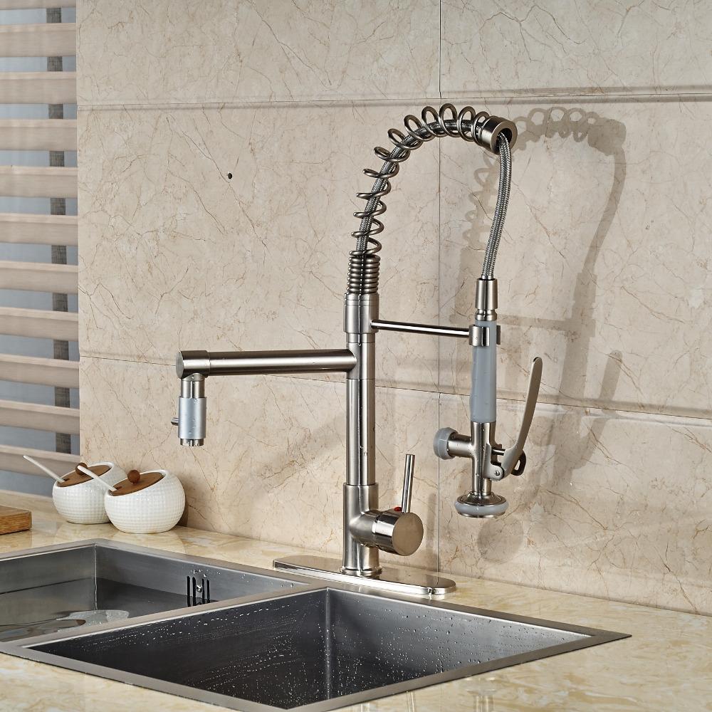 Minnehaha Brushed Nickel Finish Dual Spout Kitchen Sink