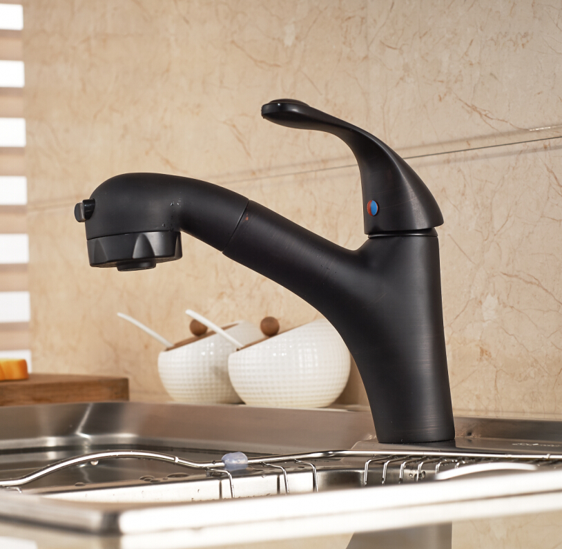 Montana Oil Rubbed Bronze Finish Dual Spout Kitchen Sink