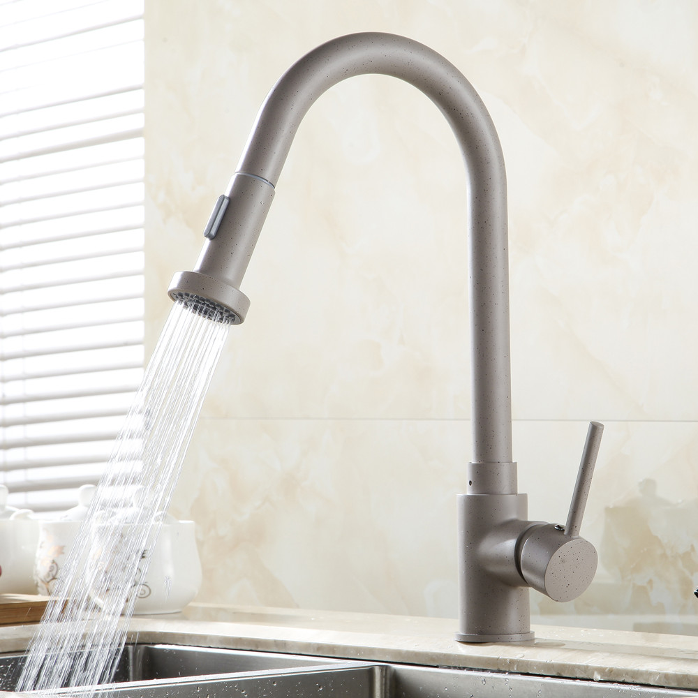 Moore single handle deck mounted kitchen sink faucet with - Kitchen sink sprayers ...