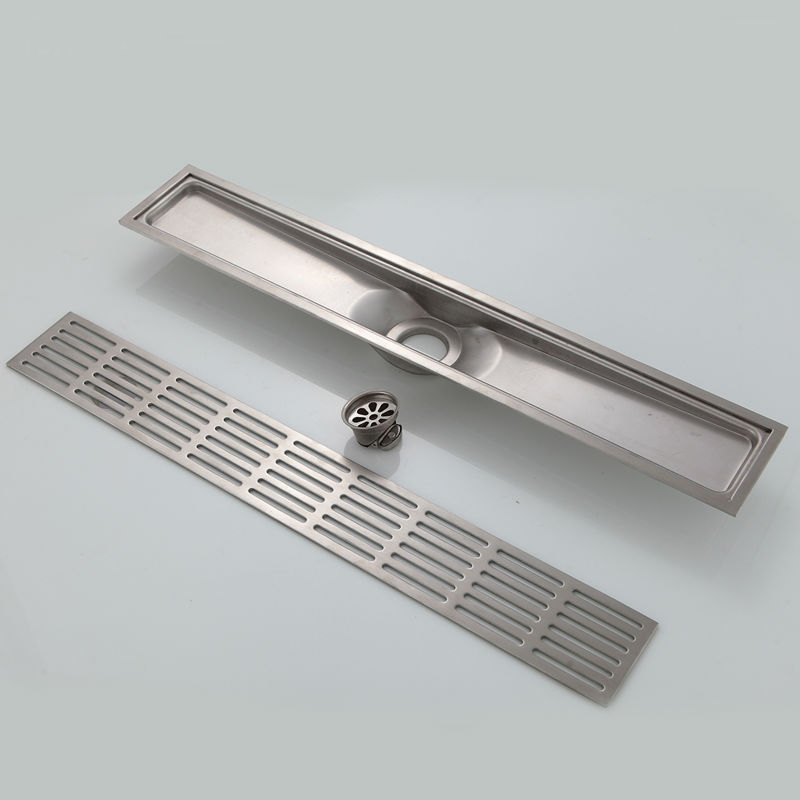 Potomac Stainless Steel Zipper Style Linear Shower Drain Funitic