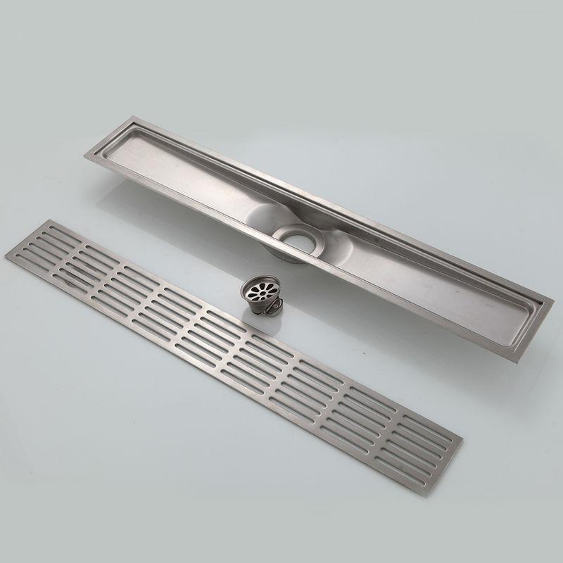 Potomac Stainless Steel Zipper Style Linear Shower Drain