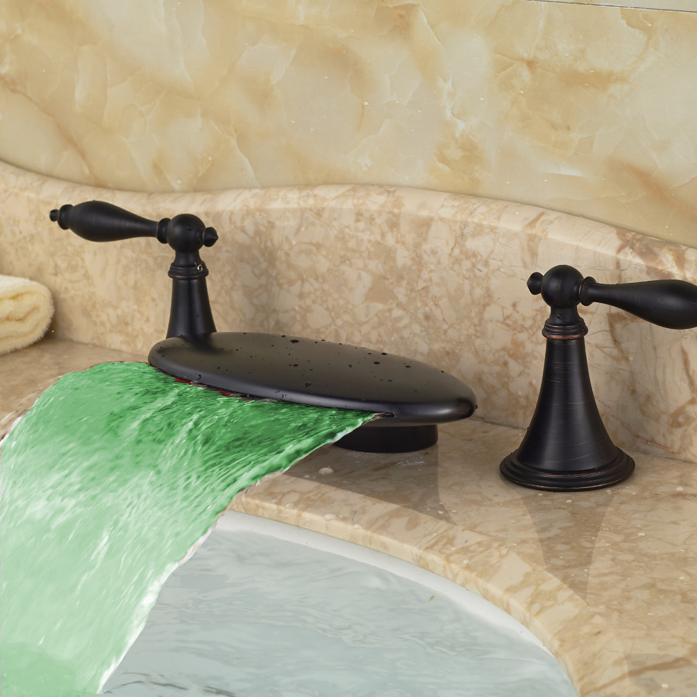 Pringle Deck Mounted Dual Handle Oil Rubbed Bronze