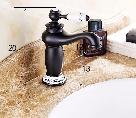 Royalston Single Handle Oil Rubbed Bronze Bathroom Sink Faucet 1