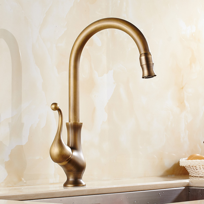 saguache antique brass single handle kitchen sink faucet 1. Interior Design Ideas. Home Design Ideas