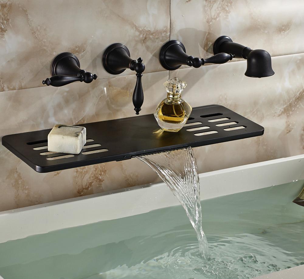 Waihilau Oil Rubbed Bronze Finish Water Fall Bathtub