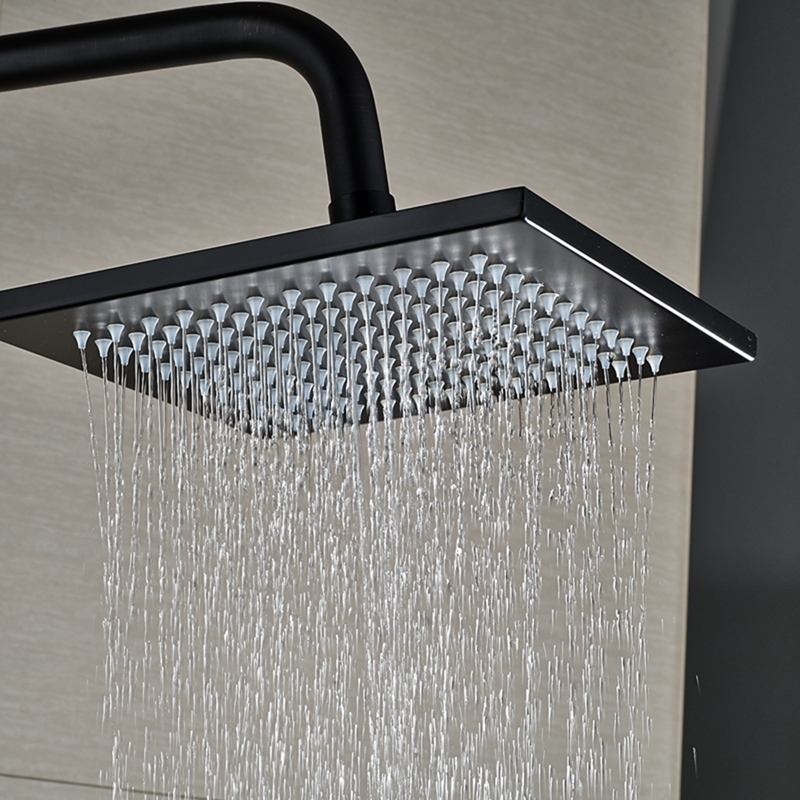 oil rubbed bronze led rain shower head. Walker Oil Rubbed Bronze Wall Mounted 8  Square Hot Cold Water LED RainFall Shower