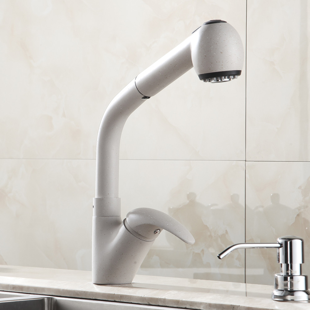 Buy angeline deck mount pull out kitchen faucet online - Kitchen sink sprayers ...