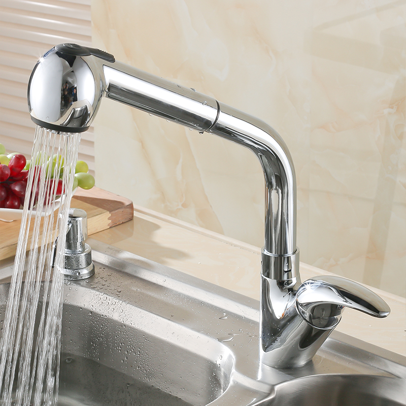 Buy Angeline Deck Mount Pull Out Kitchen Faucet Online