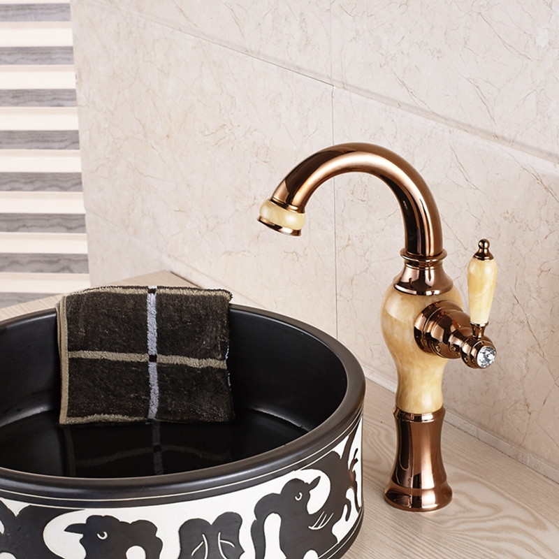 Fulmer single handle luxury rose gold brass ceramic for Expensive faucets