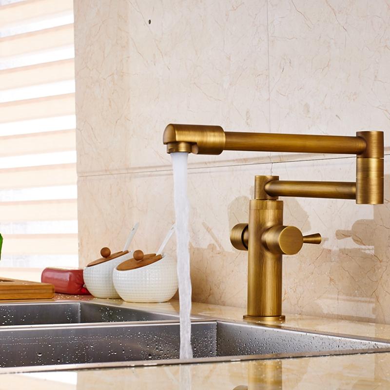 glendale deckmounted antique brass dual handle pot filler kitchen faucet 6