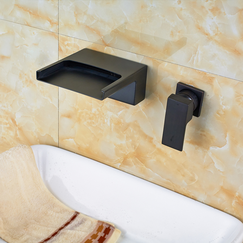 Resica Single Handle Wall-Mounted Oil Rubbed Bronze Waterfall ...