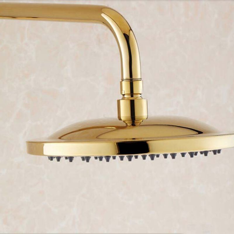 Ricketts Wall Mounted Gold Finish RainFall Shower Set with ...