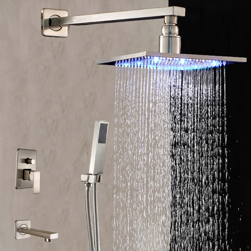 Miller Exposed Shower System With Wall Mount Brushed