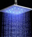 Miller Exposed Shower System with Wall Mount Brushed Nickel LED Shower Head, Hand Held Shower, Tub Spout & Mixer Valve 4